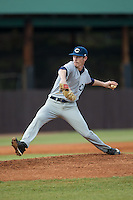 Catawba Indians starting pitcher Bryan Ketchie (16) in action against the Belmont Abbey Crusaders at Abbey Yard on February 7, 2017 in Belmont, North Carolina.  The Crusaders defeated the Indians 12-9.  (Brian Westerholt/Four Seam Images)