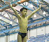 Cameron Yuen of Garden City gets ready to leap from the springboard during the Nassau County boys diving championship at Nassau Aquatic Center in East Meadow, NY on Wednesday, Feb. 8, 2017.