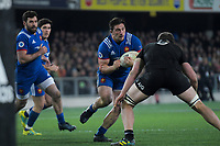 France's Camille Chat takes the ball up during the Steinlager Series international rugby match between the New Zealand All Blacks and France at Forsyth Barr Stadium in Wellington, New Zealand on Saturday, 23 June 2018. Photo: Dave Lintott / lintottphoto.co.nz