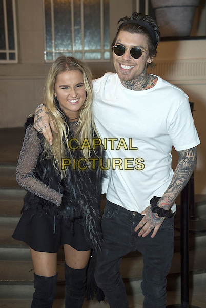 Marco Pierre White Jr and girlfriend Francesca attends the India, Pakistan and London Fashion Show (IPL Fashion Show) at The Gibson Hall in London, England on the 4th March 2017 <br /> CAP/GM/PP<br /> &copy;Gary Mitchell/PP/Capital Pictures