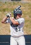 April 20, 2012:   Nevada Wolf Pack Sara Parsons at the plate against the University of Hawai'i Warrior during their NCAA softball game played at Christina M. Hixson Softball Park on Friday in Reno, Nevada.