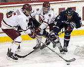 Casey Fitzgerald (BC - 5), Luke McInnis (BC - 3), Benjamin Freeman (UConn - 24) - The Boston College Eagles defeated the visiting UConn Huskies 2-1 on Tuesday, January 24, 2017, at Kelley Rink in Conte Forum in Chestnut Hill, Massachusetts.