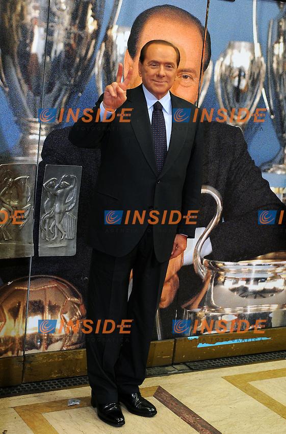 Silvio BERLUSCONI<br /> Milano, 13/03/2011 Teatro Manzoni<br /> 25&deg; anniversario di presidenza Berlusconi al Milan<br /> Campionato Italiano Serie A 2010/2011<br /> Foto Nicolo' Zangirolami Insidefoto