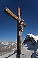 Cross at Klein Matterhorn viewing platform, Zermatt, Switzerland
