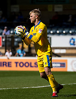 Goalkeeper Rob Lainton (on loan from Bury) during the Sky Bet League 2 match between Wycombe Wanderers and Cheltenham Town at Adams Park, High Wycombe, England on the 8th April 2017. Photo by Liam McAvoy.