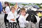Muiris Harty, Ballyheigue, Gearoid Harty, Ballyheigue, at the Castleisland Mart Calf Show on Saturday