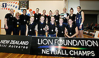 Runner up team Hamilton at the Lion Foundation Netball Championship match, day five, MoreFM Arena, Dunedin, New Zealand, Friday, October 04, 2013. Credit: Dianne Manson/©MBPHOTO /Michael Bradley Photography.