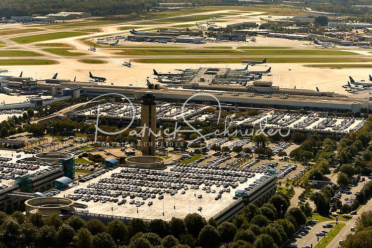 Aerial photo at Charlotte Douglas International Airport, taken October 2008.