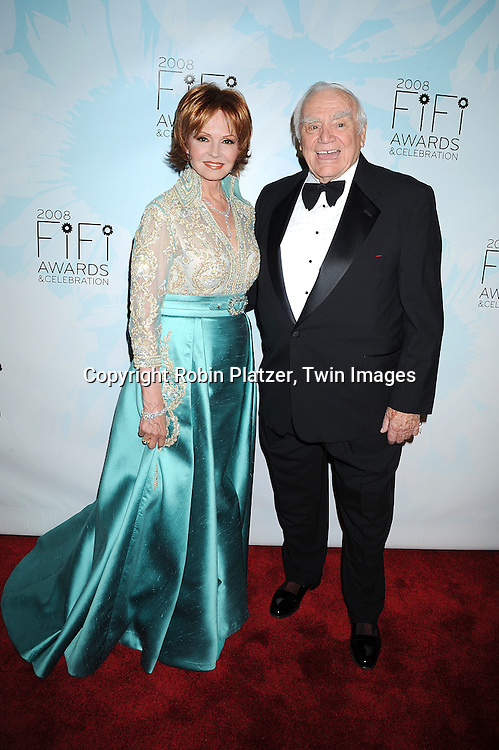 Tova Borgnine and husband Ernest Borgnine..posing for photographers at The 36th Annual Fifi Awards..Show on May 20, 2008 at The Park Avenue Armory at 67th Street in New York City. This was presented by The Fragrance Foundation.....Robin Platzer, Twin Images