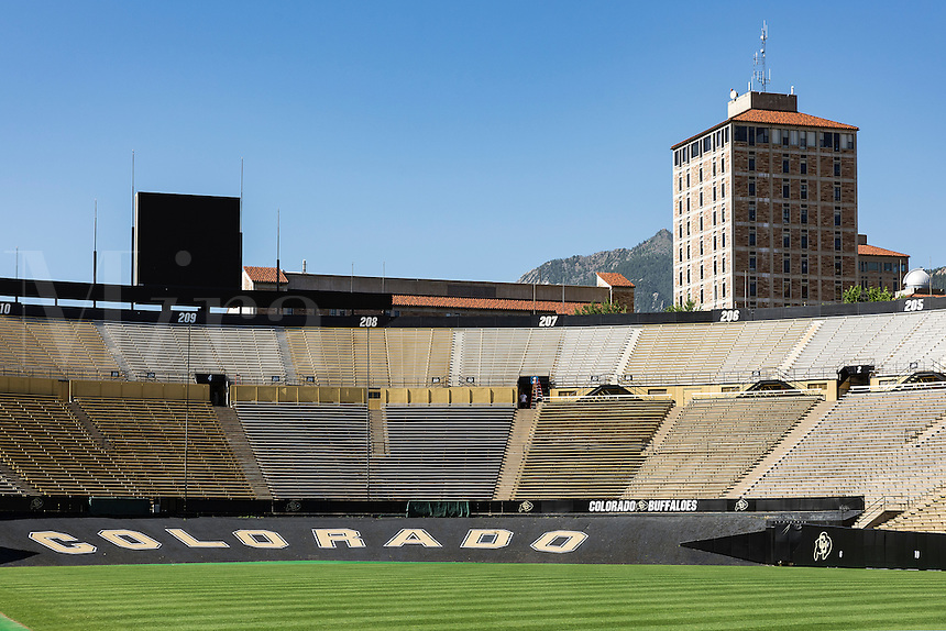 Folsom Field Football stadium, University of Colorado, Boulder, Colorado, USA.
