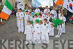 SCHOOL: The Kilflynn school of Taek wando under the supervision of their leader Mike Murphy who dematrated at the Kilflynn St Patricks Day parade on Saturday.....