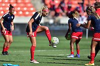 Houston, TX - Sunday Oct. 09, 2016: Megan Oyster prior to a National Women's Soccer League (NWSL) Championship match between the Washington Spirit and the Western New York Flash at BBVA Compass Stadium.