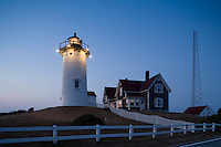 Nobska lighthouse, (1876) evening, Woods Hole, Cape Cod, MA