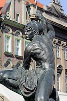 Brunnen am alten Marktplatz (Stary Rynek) in Posnan (Posen), Woiwodschaft Gro&szlig;polen (Wojew&oacute;dztwo wielkopolskie), Polen Europa<br /> Fountain at Old Market Place (Stary Rynek) in Pozan, Poland, Europe