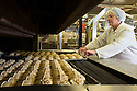 23/03/16<br /> <br /> ***FILE PHOTO***<br /> <br /> Hot cross buns being made for M&S at Gunstones Bakery near Chesterfield, Derbyshire.<br /> <br />  <br /> M&S prepares for bun fights at the tills as it expects to sell 1000 hot cross a minute.<br /> <br /> M&S expects to sell 1000 hot cross buns a minute over the Easter bank holiday.<br /> <br /> The retailer sells a third of the nation's hot cross buns at Easter, and expects to sell over 30 million this Easter. <br /> <br /> The retailer's hot cross bun supplier is already in 24 hour production to meet customer demand.<br /> <br /> M&S has its largest ever range of hot cross buns this year to excite customers taste buds.<br /> Over the Easter period thirty tons of flour and twenty tons of fruit are used to make a quarter of a million buns every day. <br />  <br /> M&S will sell enough buns that if laid end-to-end, they'd stretch from the supplier in Sheffield to Nazareth.<br /> During Easter week the retailer will sell enough individual hot cross buns that if stacked could scale Mount Everest 14 times.<br />  <br />  <br /> <br /> All Rights Reserved: F Stop Press Ltd. +44(0)1335 418365   www.fstoppress.com.