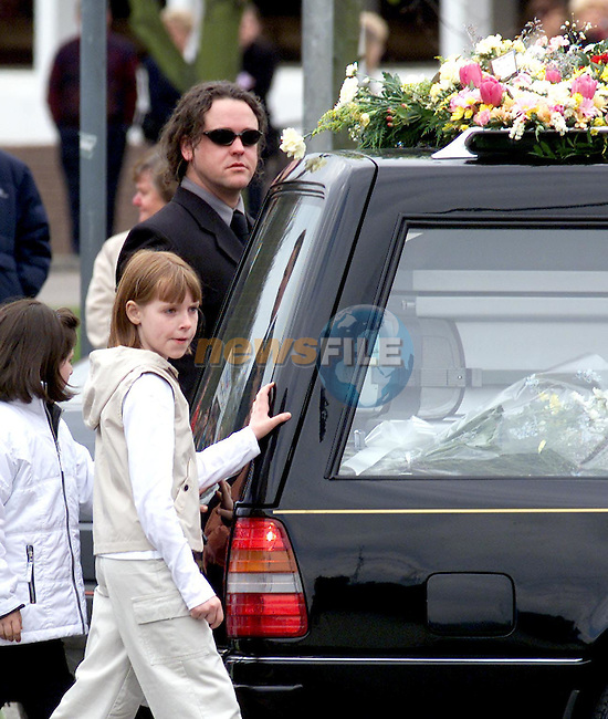 The Funeral of Deborah, Jim and Colm Rodgers that perished in the fire at there home in New Jersey, Leaving the Church in there home town of Ardee Co Louth.Picture ByLine   NEWSFILE