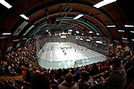 6 January 2007: University of Vermont's Gutterson Fieldhouse in Burlington, Vermont, during a game between the University of New Hampshire Wildcats and the University of Vermont Catamounts. Gutterson Fieldhouse opened in 1963 and also served as a pre-season professional hockey training facility. Gutterson is where NHL all-time leading scorer Wayne Gretzky started his last two seasons playing for the New York Rangers. The weekend series against New Hampshire marked a record setting 49th consecutive sellout at the Gut...Mandatory Photo Credit: Ed Wolfstein Photo.<br />