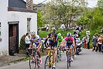 Breakaway with Jaco Venter (MTN-Qhubeka), Pieter Jakobs (Topsport Vlaanderen) and Matteo Bono (Lampre-Merida) at Cote de Stockeu, Stavelot, Belgium, 27 April 2014, Photo by Pim Nijland / www.pelotonphotos.com