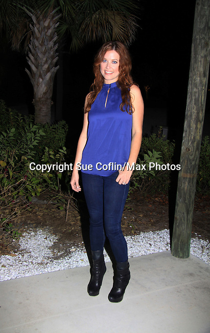 "Melissa Archer attends Southwest Florida's SoapFest's Celebrity Weekend and came to see Tom Pelphrey doing A Night at the Theatre performing ""My Italy Story"" benefitting the Apothecary Theatre Company at the Rose History Auditorium on November 11, 2012 in Marco Island, Florida. (Photo by Sue Coflin/Max Photos)"
