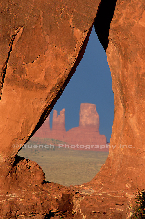 The Window Monument Valley Navajo Tribal Park  UTAH