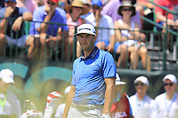 Dustin Johnson (USA) on the 1st tee to start his match during Friday's Round 2 of the 117th U.S. Open Championship 2017 held at Erin Hills, Erin, Wisconsin, USA. 16th June 2017.<br /> Picture: Eoin Clarke | Golffile<br /> <br /> <br /> All photos usage must carry mandatory copyright credit (&copy; Golffile | Eoin Clarke)