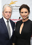 Michael Douglas and Catherine Zeta-Jones attend the Career Transition for Dancers on November 1, 2017 at The Marriott Marquis in New York City.