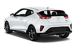 Car pictures of rear three quarter view of 2019 Hyundai Veloster R-Spec 2 Door Coupe Angular Rear