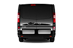 Straight rear view of 2017 Nissan NV300 Optima 4 Door Cargo Van Rear View  stock images