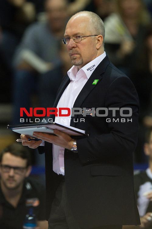 16.01.2014, Max Schmeling Halle, Berlin<br /> Volleyball, 2014 CEV Volleyball Champions League, Playoff 12, BR Volleys (GER) vs. Zenit Kazan (RUS)<br /> <br /> Mark Lebedew (Trainer / Coach Berlin)<br /> <br />   Foto &copy; nordphoto / Kurth