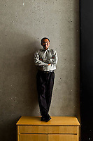 Deep Nishar pictures: Executive portrait photography of Dipchand Nishar of LinkedIn by San Francisco corporate photographer Eric Millette