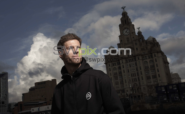 PICTURE by Ben Duffy/SWPIX.COM - Player PORTRAIT FEATURE, Xabi Alonso , Liverpool FC....02/10/08  Copyright - Simon Wilkinson - 07811267706   Liverpool's Xabi Alonson, pictured on a ferry on the river Mersey in Liverpool