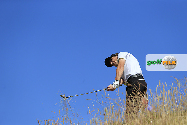 Tommy FLEETWOOD (ENG) in the rough at the 12th green during Wednesday's Practice Day of the 2015 U.S. Open 115th National Championship held at Chambers Bay, Seattle, Washington, USA. 6/17/2015.<br /> Picture: Golffile | Eoin Clarke<br /> <br /> <br /> <br /> <br /> All photo usage must carry mandatory copyright credit (&copy; Golffile | Eoin Clarke)