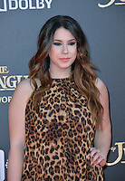 LOS ANGELES, CA. April 4, 2016. Actress Jillian Rose Reed at the world premiere of &quot;The Jungle Book&quot; at the El Capitan Theatre, Hollywood.<br /> Picture: Paul Smith / Featureflash