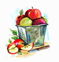 Apples in a bucket