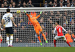 Arsenal's David Ospina flaps at the ball to gift Tottenham's Harry Kane the opening goal<br /> <br /> Barclays Premier League- Tottenham Hotspurs vs Arsenal  - White Hart Lane - England - 7th February 2015 - Picture David Klein/Sportimage
