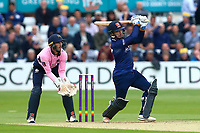 Adam Wheater hits six runs for Essex as John Simpson looks on from behind the stumps during Essex Eagles vs Middlesex, NatWest T20 Blast Cricket at The Cloudfm County Ground on 11th August 2017