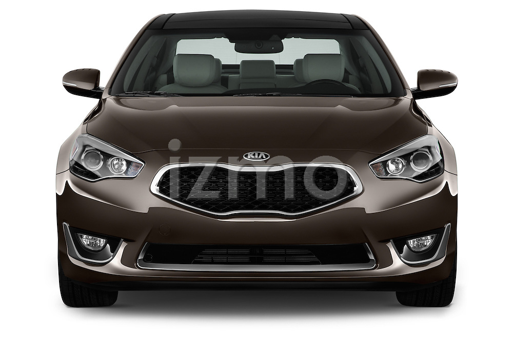 Straight front view of a 2014 KIA Cadenza Sedan