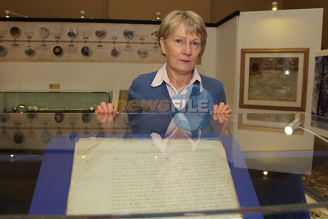 Fidelma callan at the new display in the Tholsel..Picture: Fran Caffrey/www.newsfile.ie.