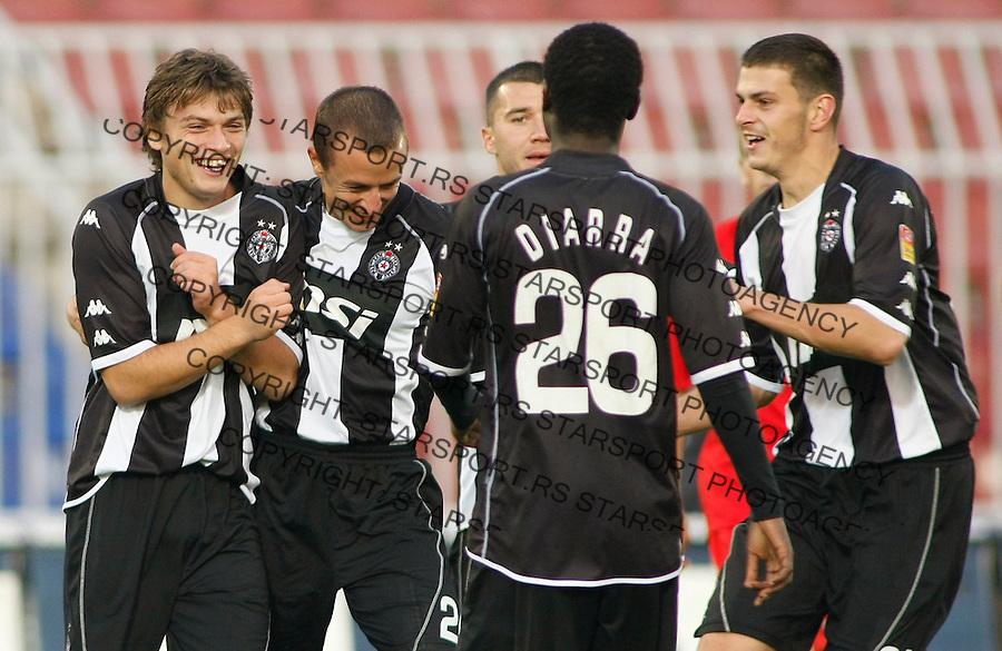Fudbal, Jelen Super liga, sezona 2009/2010.Partizan Vs. Napredak (Krusevac).from left, Adem Ljajic, Srdja Knezevic, Lamine Diarra, and Branislav Jovanovic.Beograd, 31.10.2009..foto: Srdjan Stevanovic/Starsportphoto ©