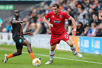 Scott Vernon of Grimsby Town on the ball during the Sky Bet League 2 match between Barnet and Grimsby Town at The Hive, London, England on 29 April 2017. Photo by David Horn.