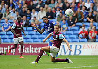 GOAL - Cardiff City's Nathaniel Mendez-Laing scores his sides third goal <br /> <br /> Photographer Ashley Crowden/CameraSport<br /> <br /> The EFL Sky Bet Championship - Cardiff City v Aston Villa - Saturday August 12th 2017 - Cardiff City Stadium - Cardiff<br /> <br /> World Copyright &copy; 2017 CameraSport. All rights reserved. 43 Linden Ave. Countesthorpe. Leicester. England. LE8 5PG - Tel: +44 (0) 116 277 4147 - admin@camerasport.com - www.camerasport.com