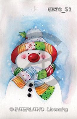 Theresa, CHRISTMAS SANTA, SNOWMAN, paintings(GBTG51,#X#) Weihnachtsmänner, Schneemänner, Weihnachen, Papá Noel, muñecos de nieve, Navidad, illustrations, pinturas