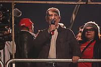 SÃO PAULO,SP, 10.06.2016 - PROTESTO-SP - Rui Falcão presidente do Partido dos Trabalhadores durante ato ligados à diversos movimentos sociais, culturais e centrais sindicais participam do ato 'Fora Temer, Não ao Golpe, Nenhum Direito a Menos!', na Avenida Paulista, centro de São Paulo, nesta sexta-feira. O protesto faz parte da mobilização nacional contra o presidente em exercício, Michel Temer (PMDB). (Foto: Vanessa Carvalho/Brazil Photo Press)
