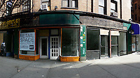 Panorama of vacant retail space in the New York neighborhood of Chelsea on Saturday, March 19, 2016. (© Richard B. Levine)