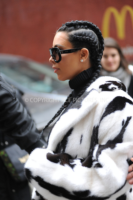WWW.ACEPIXS.COM<br /> February 10, 2016 New York City<br /> <br /> Kim Kardashian was seen leaving a Midtown Manhattan office building on February 10, 2016 in New York City.<br /> <br /> Credit: Kristin Callahan/ACE Pictures<br /> <br /> Tel: (646) 769 0430<br /> e-mail: info@acepixs.com<br /> web: http://www.acepixs.com