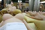 June 23, 2010- Tokyo, Japan - Love Doll torsos shown waiting for assembly at the Orient Industry factory in Tokyo, Japan, on June 23, 2010. Orient Industry is a 33-year-old company which is number one in Japan for producing over 1,000 Love Dolls annually, ranging in price from ¥90,000 to ¥700,000.
