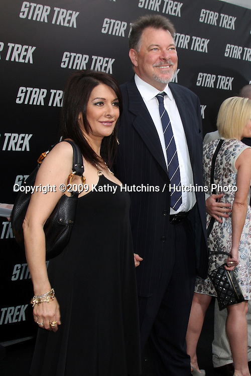 """Marina Sirtis & Jonathan Frakes arriving at the """"Star Trek"""" Premiere at Grauman's Chinese Theater in Los Angeles, CA on April 30, 2009.©2009 Kathy Hutchins / Hutchins Photo....                ."""