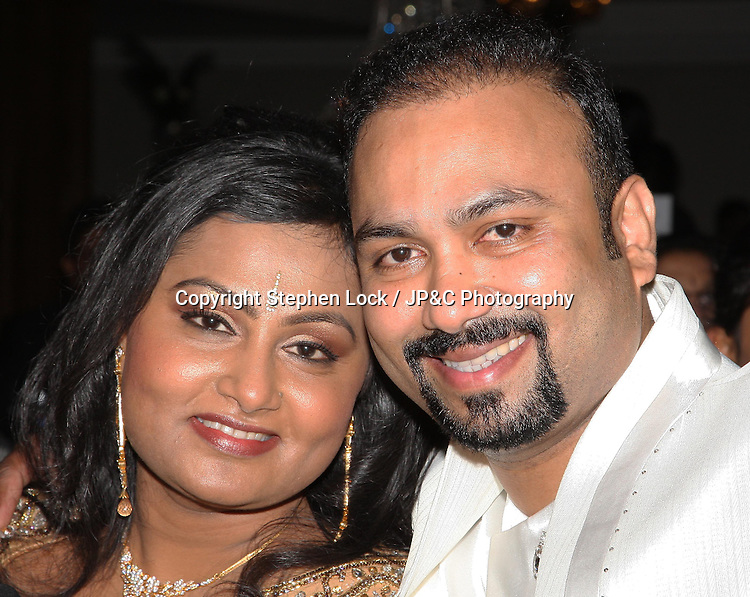 Subas Allirajah, Chairman of Lycamobile, with his wife Prema at his 40th birthday party in London, Friday, 2nd March 2012.  Photo by: Stephen Lock / i-Images