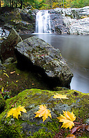 Buttermill Falls and foliage near Ludlow, Vermont