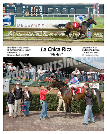 La Chica Rica winning at Delaware Park on 4/23/2006